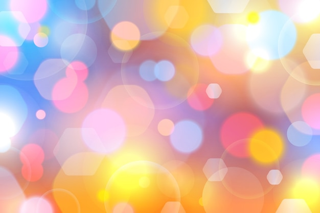 Abstract bokeh with soft light background Free Vector