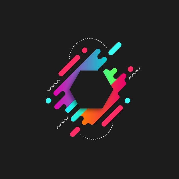 Abstract bold color background Premium Vector