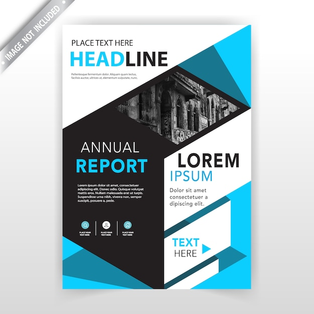 Abstract booklet cover Free Vector