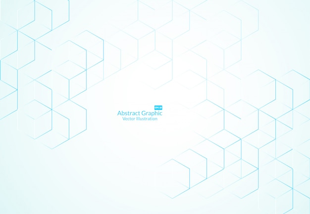 Abstract boxes background. modern technology Premium Vector