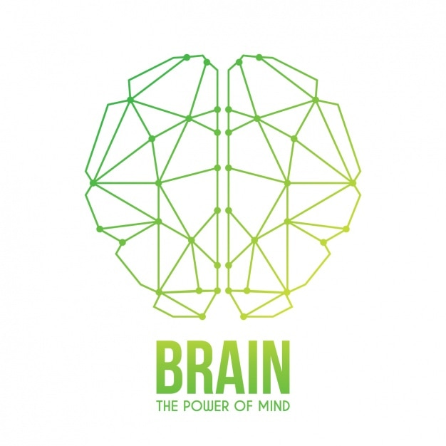 Abstract brain background design Free Vector