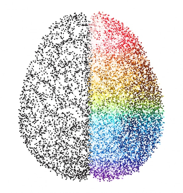 Abstract brain Free Vector
