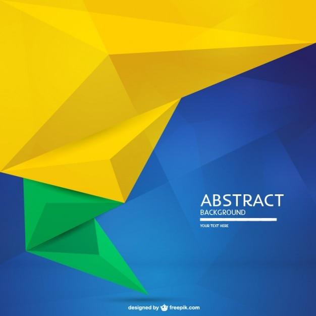 抽象ブラジルフラグの背景 Premiumベクター