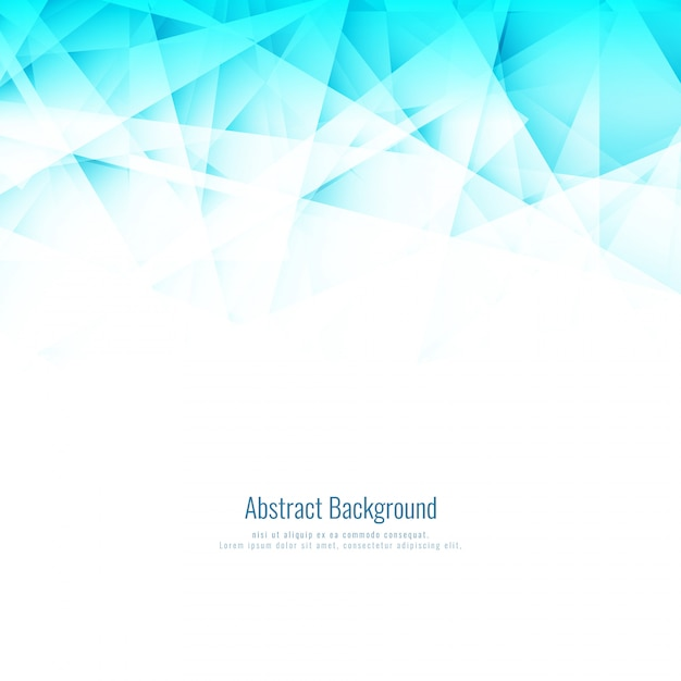 Abstract bright blue polygonal background Free Vector