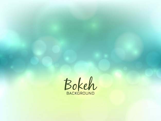 Abstract bright bokeh light background Free Vector