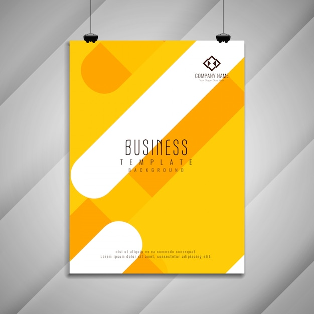 Abstract bright colorful business brochure template design Free Vector