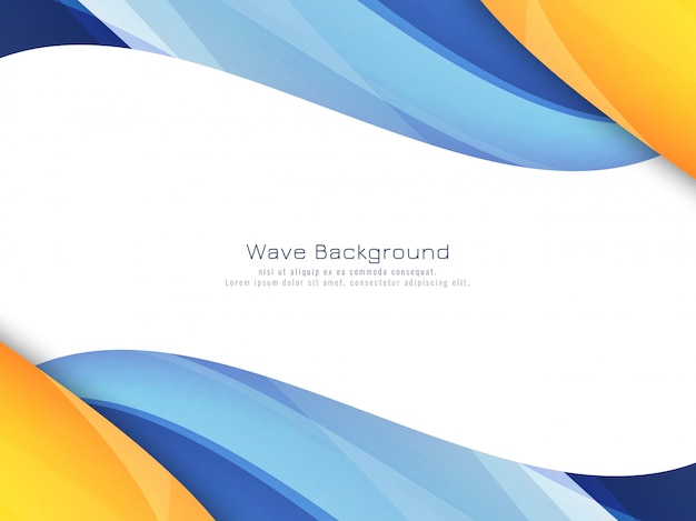 Abstract Bright Colorful Wavy Background Vector Free Download