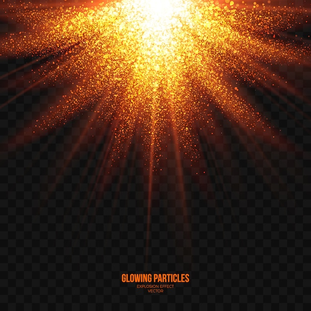 Abstract bright explosion effect transparent vector Premium Vector