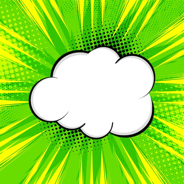 Abstract bright green comic background Free Vector