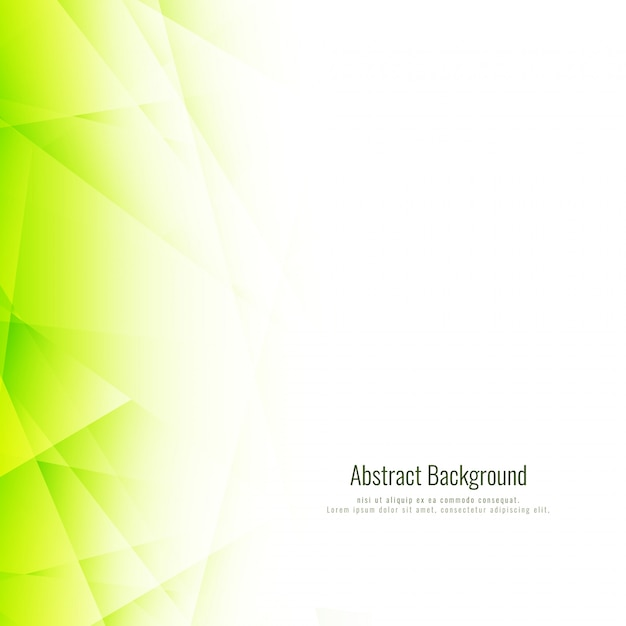 Abstract bright green polygonal background Free Vector