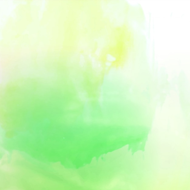 Abstract bright green watercolor background