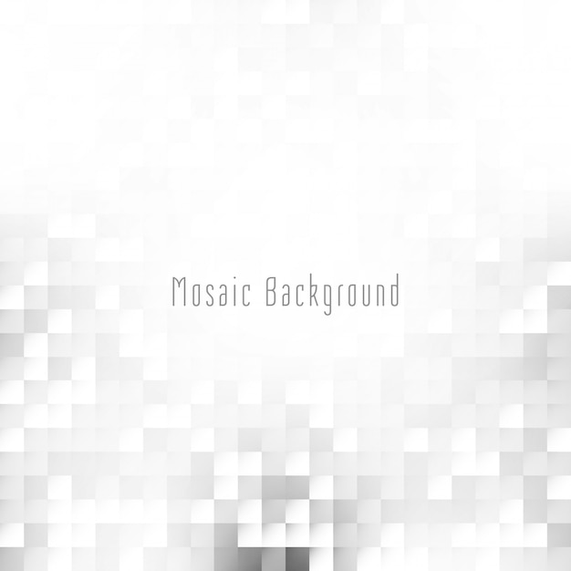 Abstract bright grey color mosaic background Free Vector