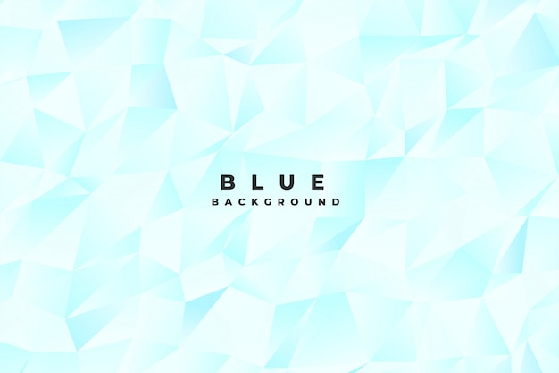 Abstract bright light blue low poly background Free Vector