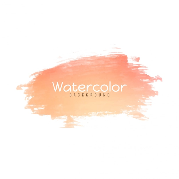Abstract bright watercolor stroke Free Vector