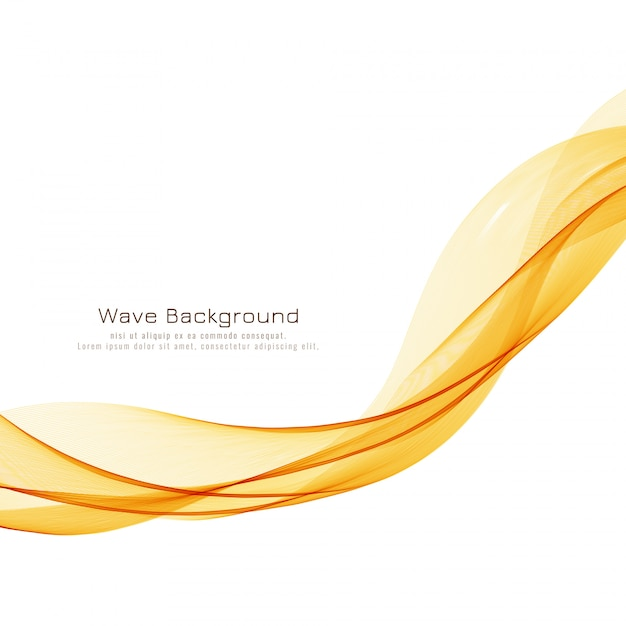 Abstract bright wave stylish background Free Vector
