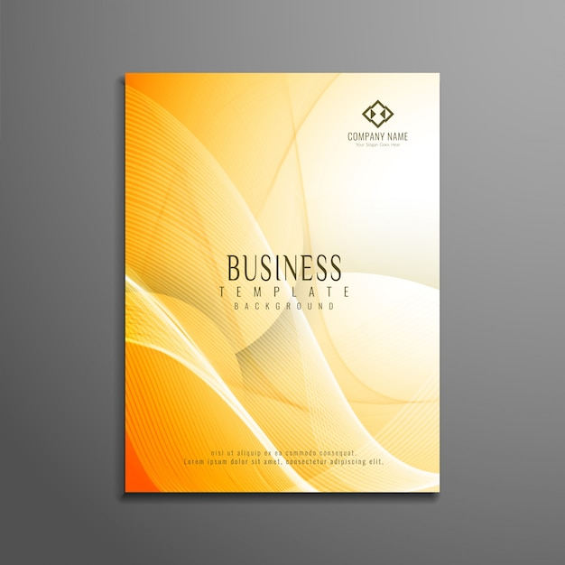 Abstract Bright Wavy Business Brochure Design Vector  Free Download