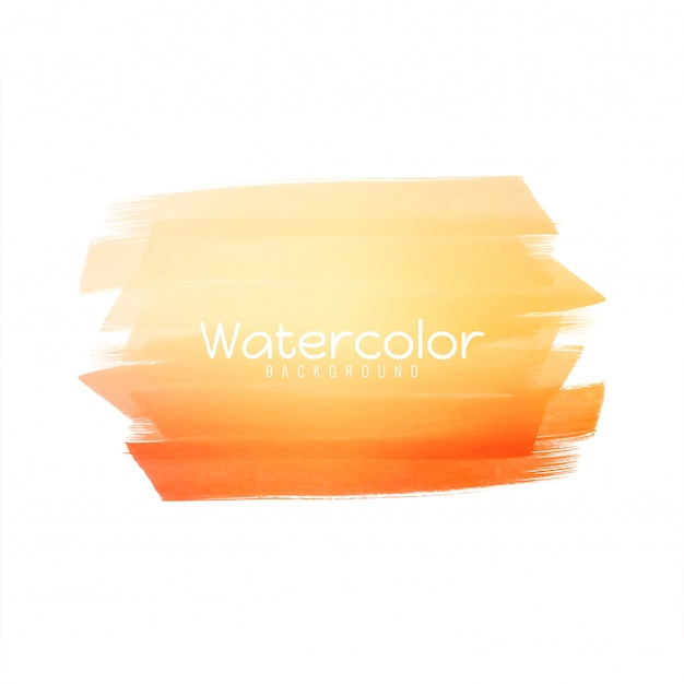 Abstract bright yellow watercolor design Free Vector