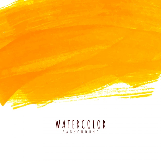 Abstract bright yellow watercolor elegant background Free Vector