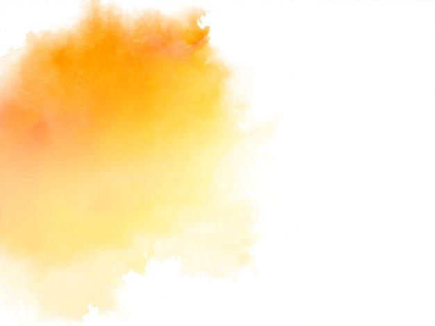 抽象的な明るい黄色の水彩画 無料ベクター