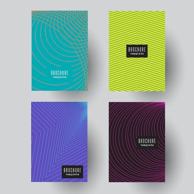 Abstract brochure designs Free Vector