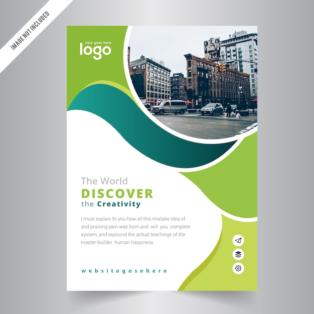 Abstract Brochure Template Design Flyer Vector Premium Download