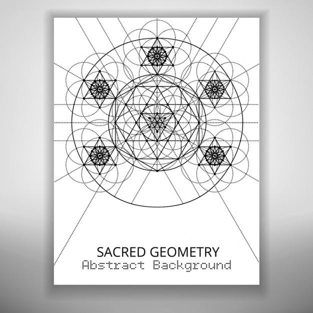 Abstract Brochure Template With Sacred Geometry Drawing Free Vector