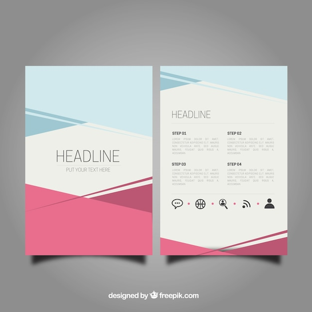Abstract brochure template vector free download for Free brochure layout template