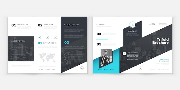 Abstract brochure template Free Vector