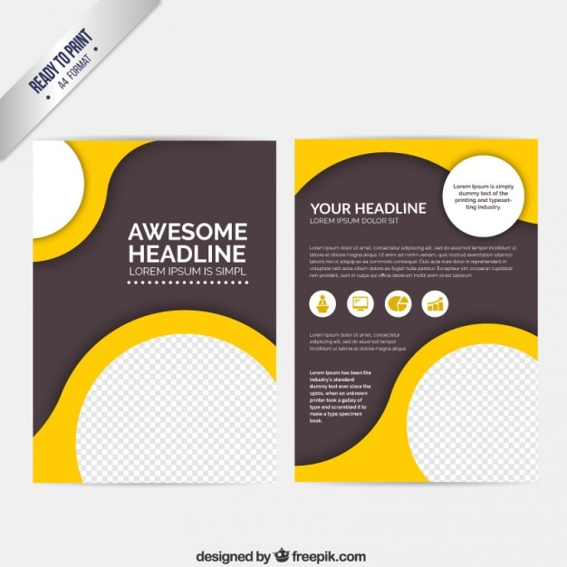 Abstract Brochure With Circles Vector Free Download