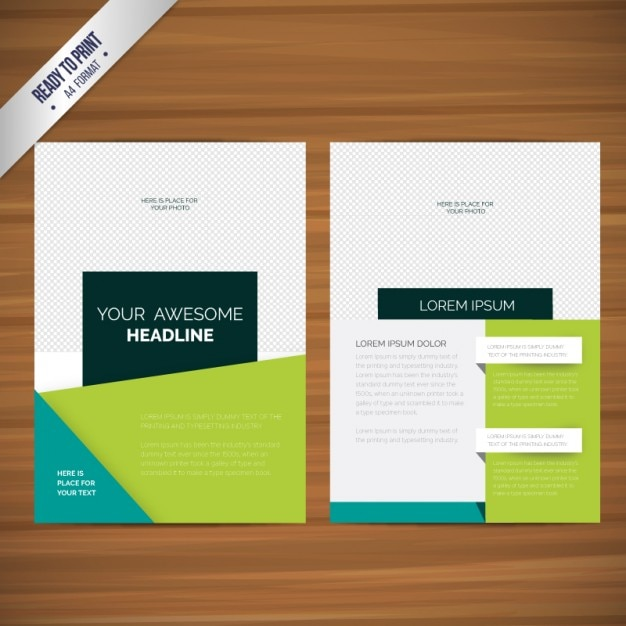 Abstract brochures Free Vector