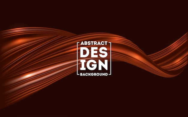 Abstract brown chocolate flow background Premium Vector