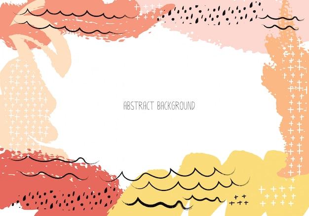 Abstract brush stroke background. Premium Vector