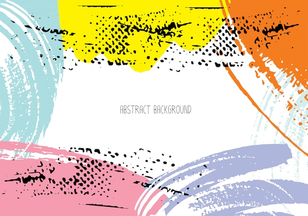 Abstract brush stroke background Premium Vector