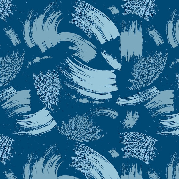 Abstract brush stroke blue paint pattern Premium Vector