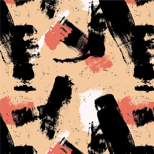 Abstract brush stroke neutral tones paint pattern Free Vector