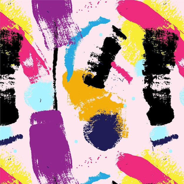 Abstract brush stroke paint pattern Free Vector