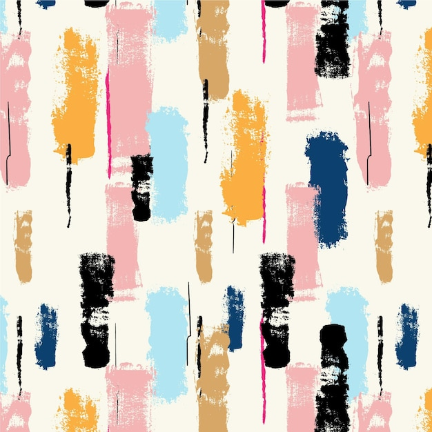 Abstract brush stroke pastel paint pattern Free Vector