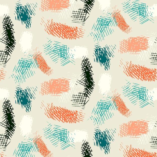 Abstract brush stroke pattern Premium Vector