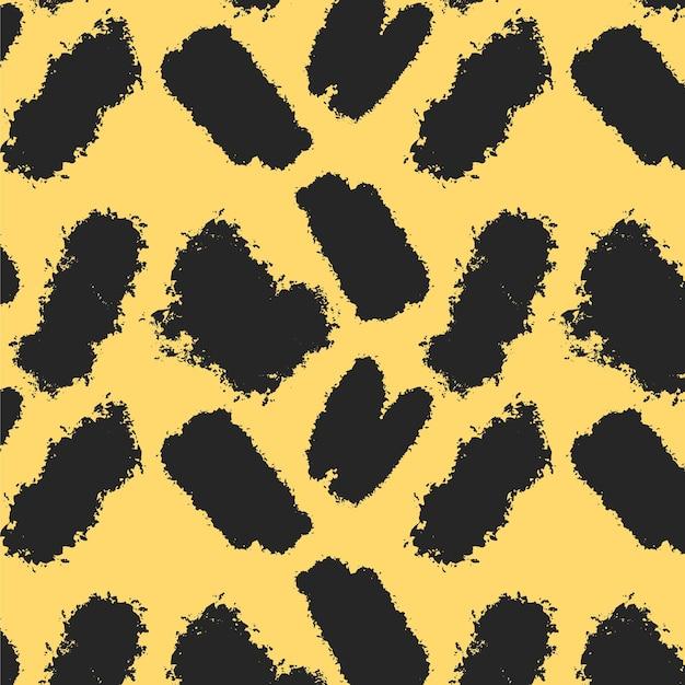 抽象的なブラシストロークパターン 無料ベクター