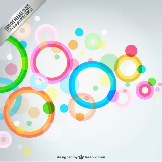Abstract bubbles background | Free Vector