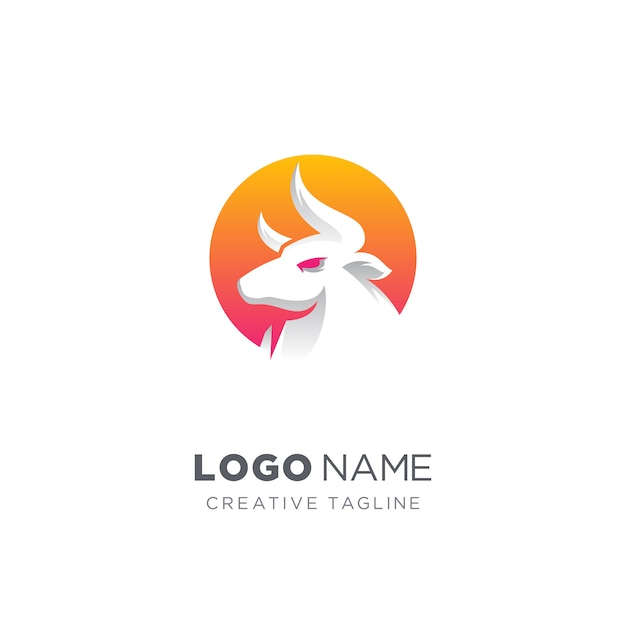 Abstract bull logo Premium Vector
