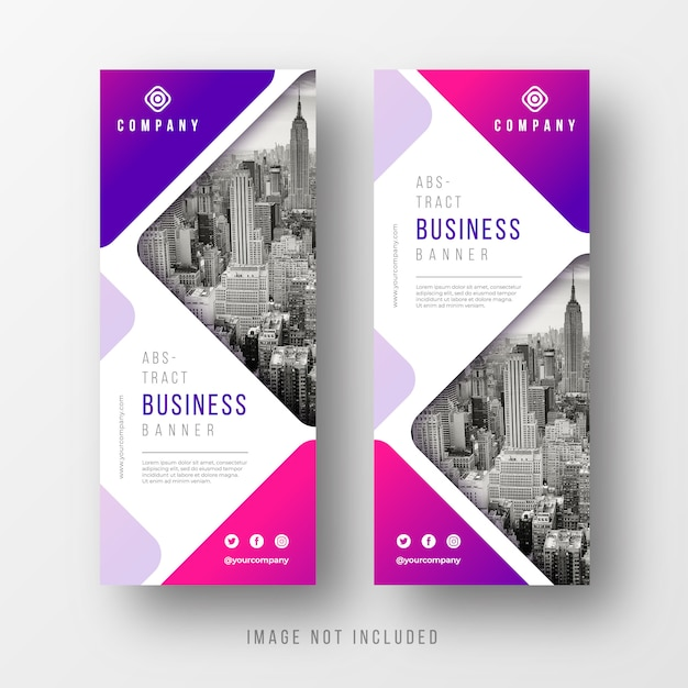 Abstract business banner templates Free Vector