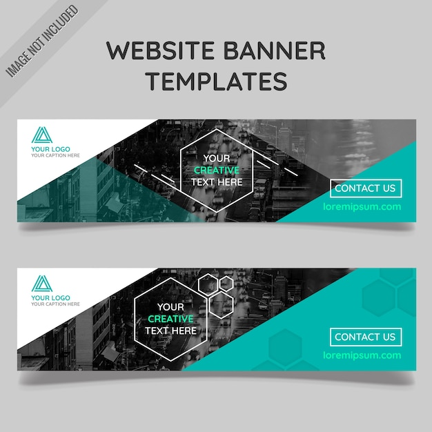 Abstract business banners Free Vector