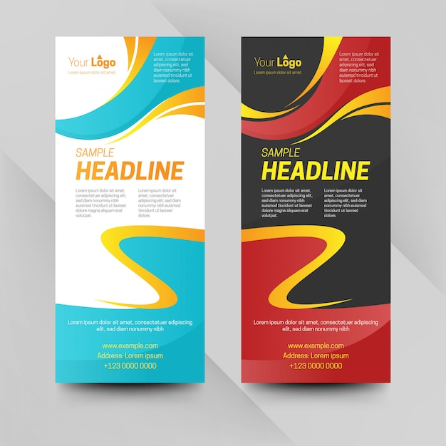 Abstract business banners Premium Vector