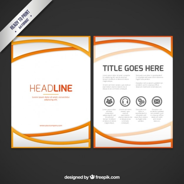 Abstract business booklet template vector free download for Small booklet template
