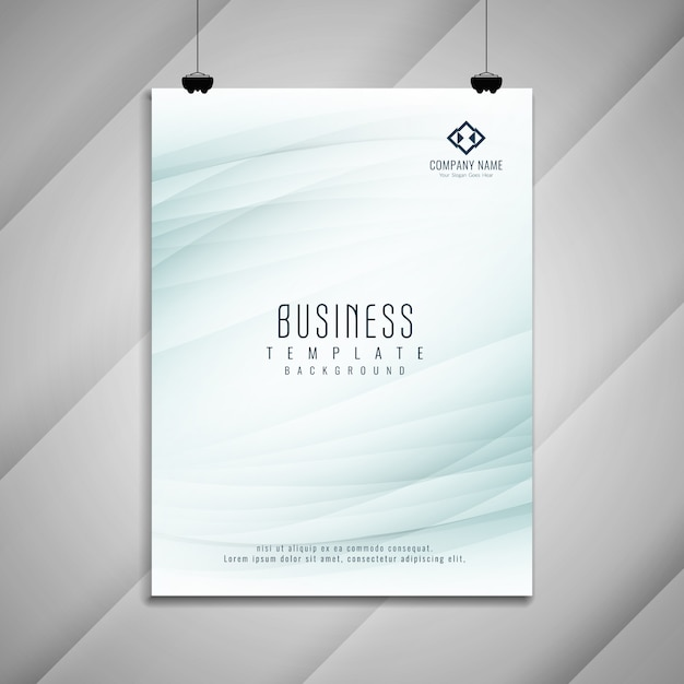 Abstract business brochure template design Free Vector