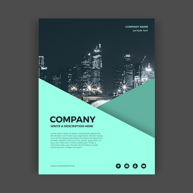 Abstract business brochure template Free Vector