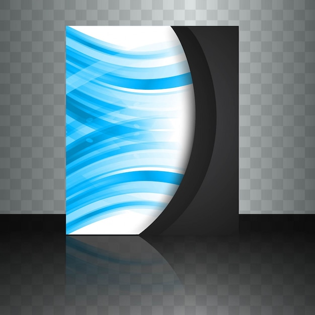 Abstract business brochure with dark wavy shape