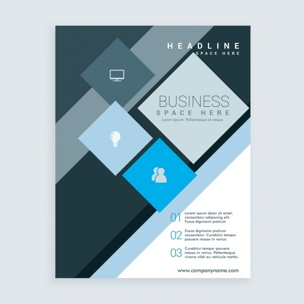 Abstract business brochure with squares Free Vector