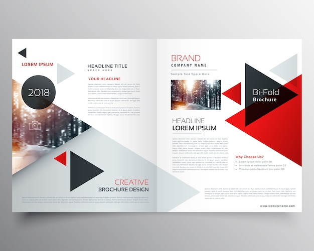 Abstract business brochure Free Vector